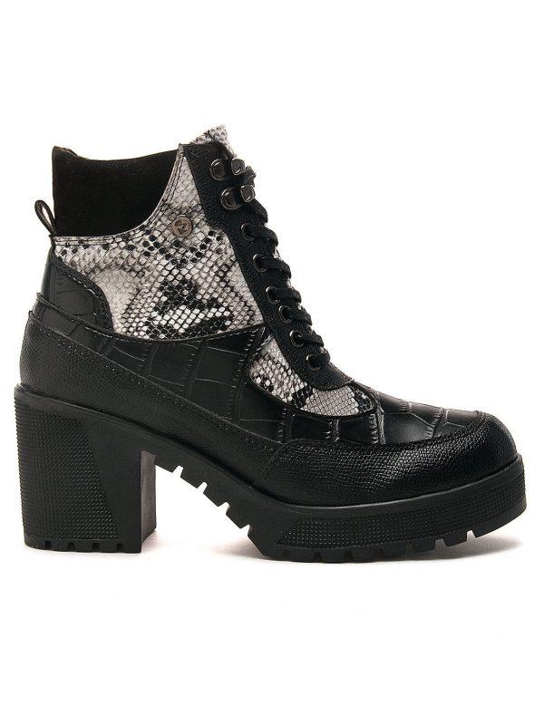 Bota de Moda para Mujer Fashion En Sintético De Tacón Negro Anuwa Cleopatra2